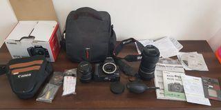 Canon EOS 1000D Fullset dan lens Tamron