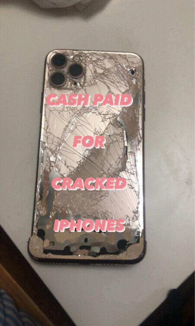 cash paid for cracked iphones