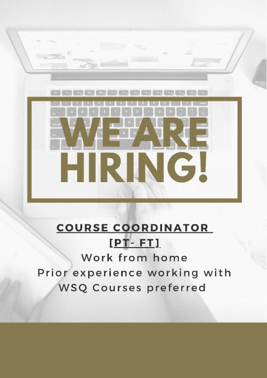 Course Coordinator[Part Time - Full Time]
