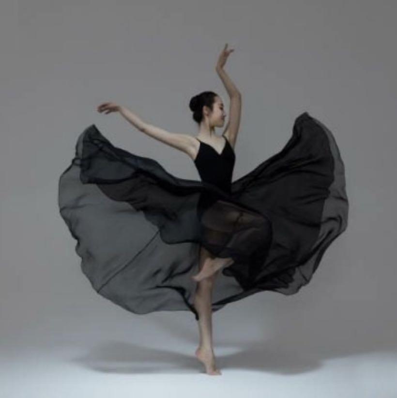 Dancing Black Long Skirt