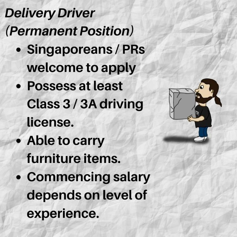 Delivery Driver for Furniture Company