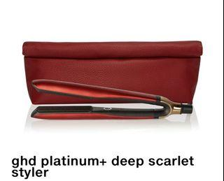 GHD Platinum styler and pouch
