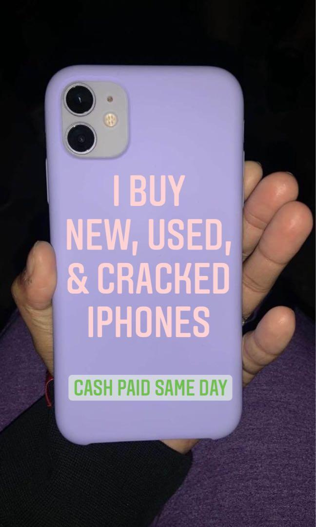 i buy new used and cracked iphones