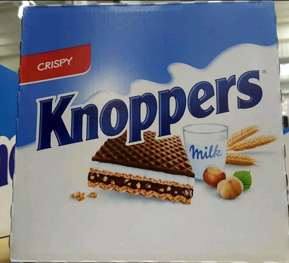 KNOPPERS 可可牛奶威化餅 600公克(25g×24包)-吉兒好市多COSTCO代購