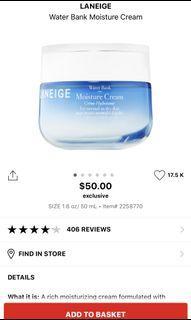 Laneige facial cream