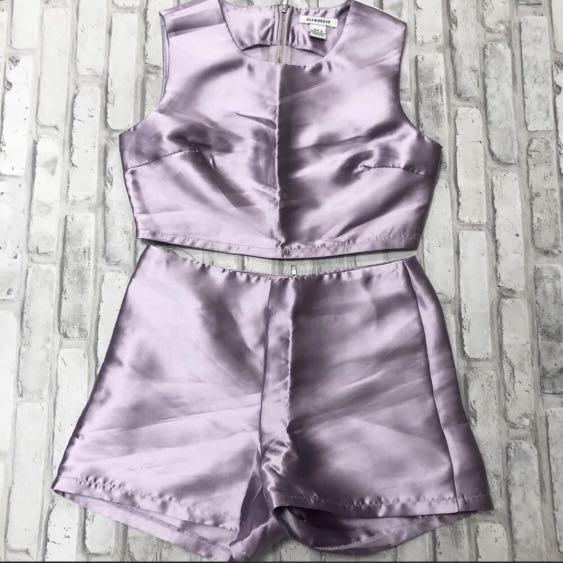 Lilac two piece short set