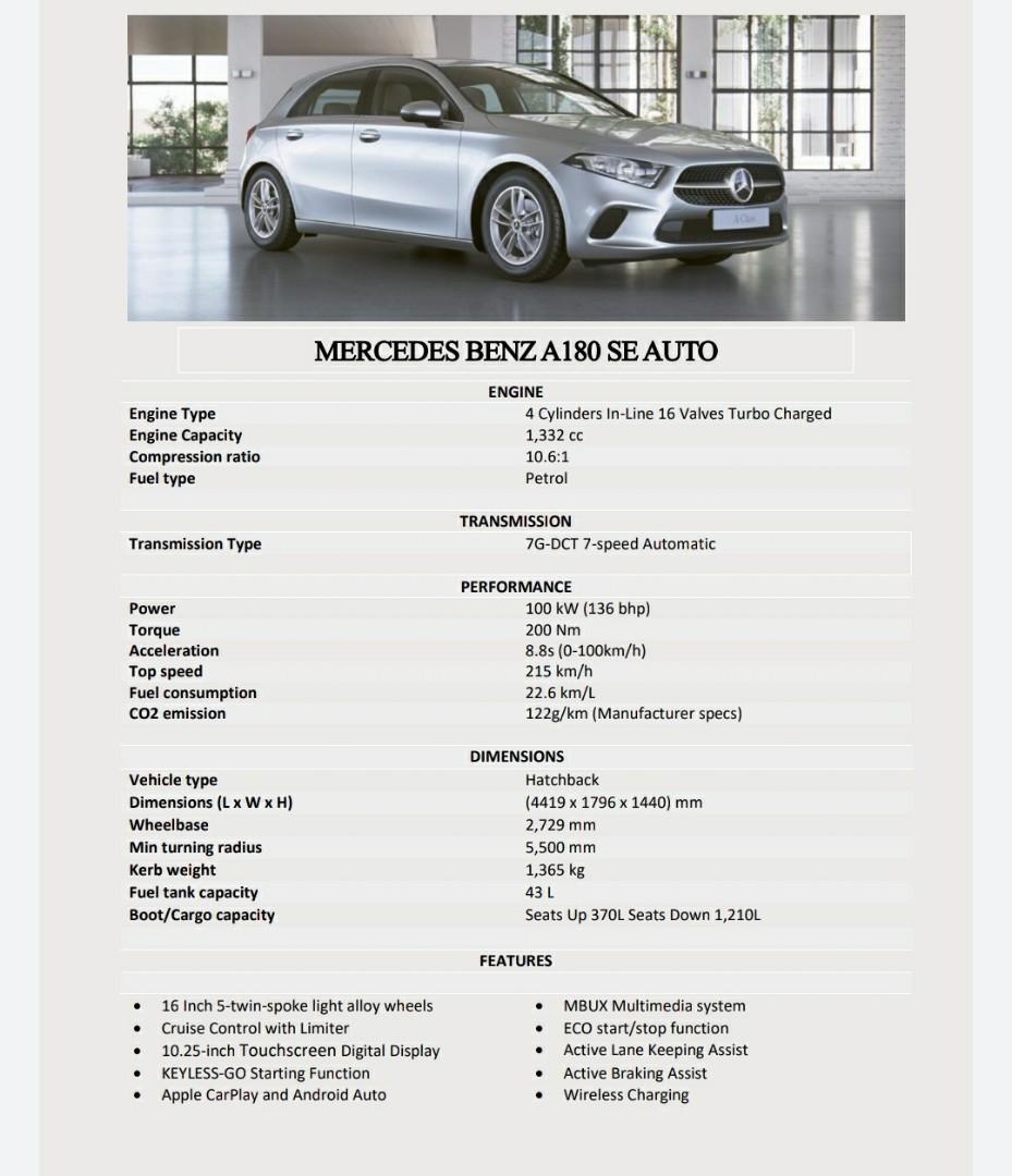 Merc A180 SE