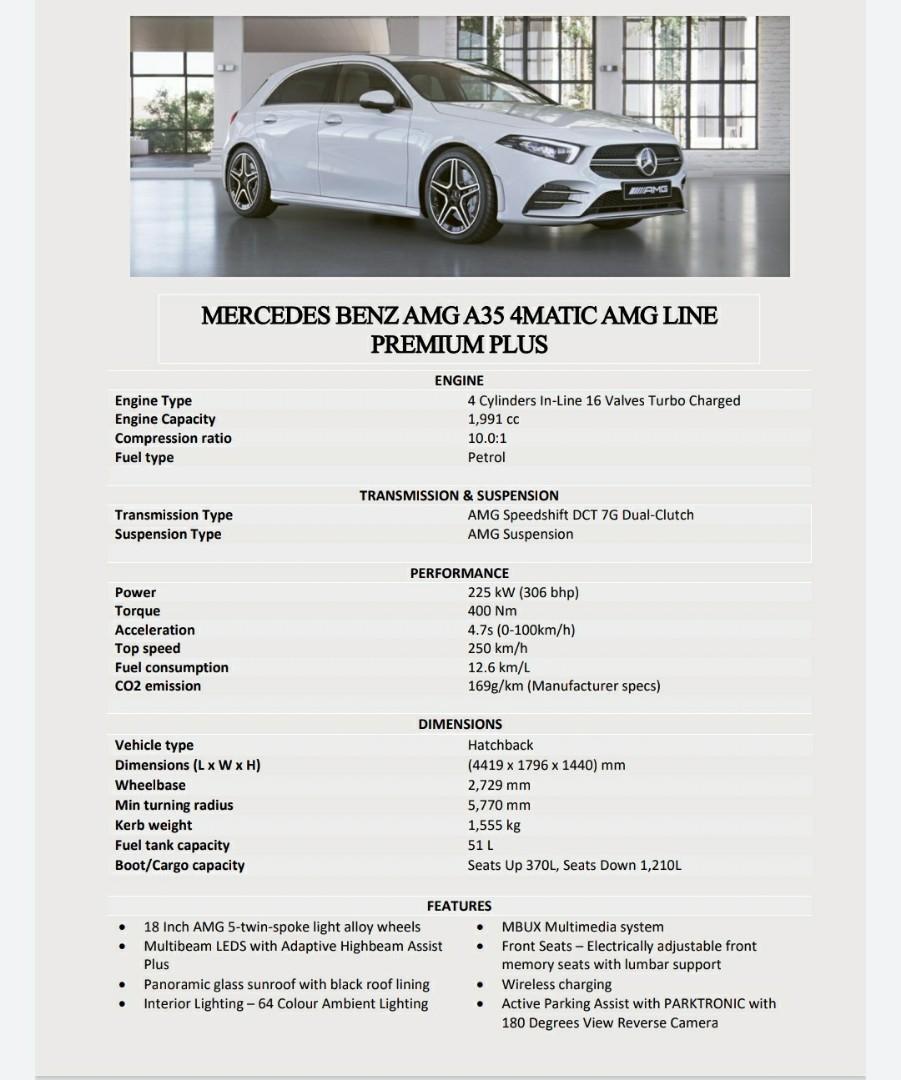 Merc A35 4Matic AMG