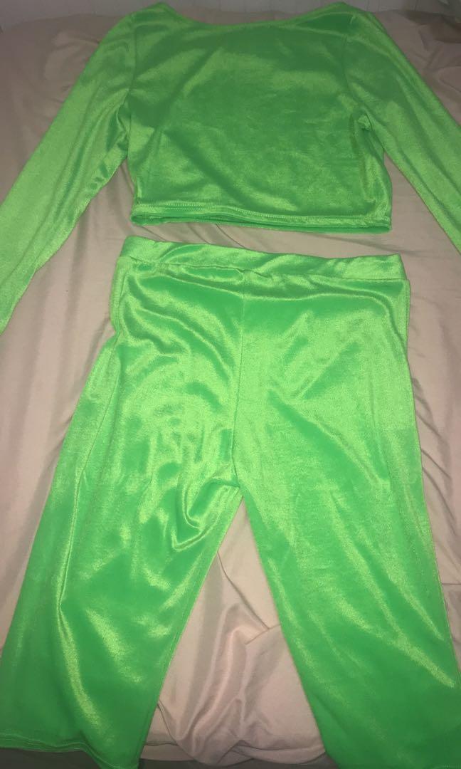 Neon green suit