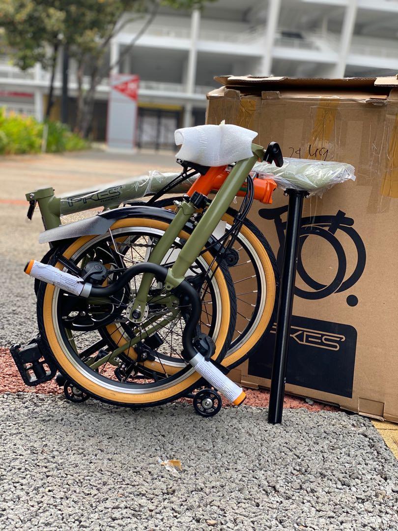 New Sepeda Lipat Element Pikes Gen 2 Orange Green Nature Stang M Rare Item