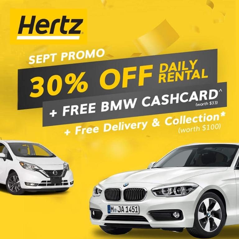 SEP PROMO 30% Off Rental + Free Delivery* + Free BMW Cashcard^