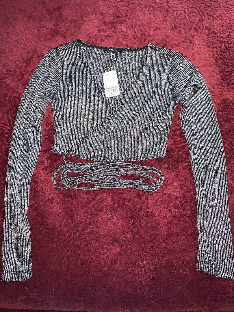 Sparkly Tye around waist long sleeve