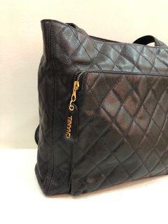 Vintage Chanel Caviar Shopper Bag