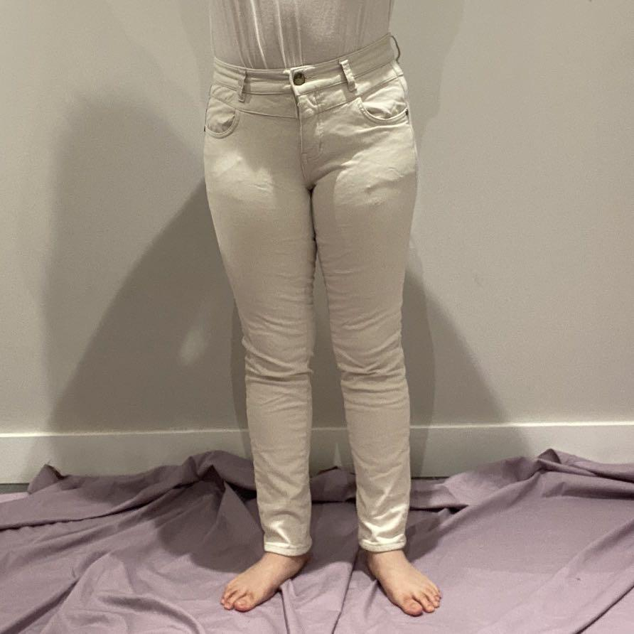 White Thick Casual Pants