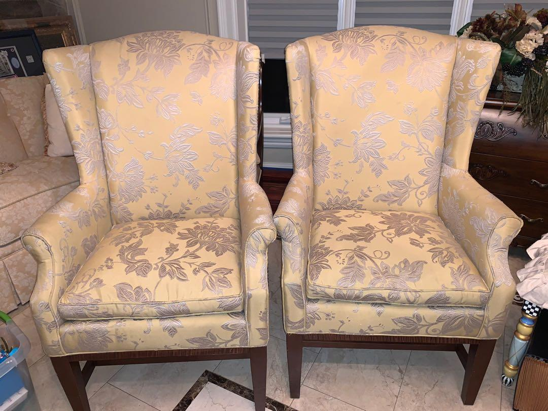 Wing Chairs - set of 2