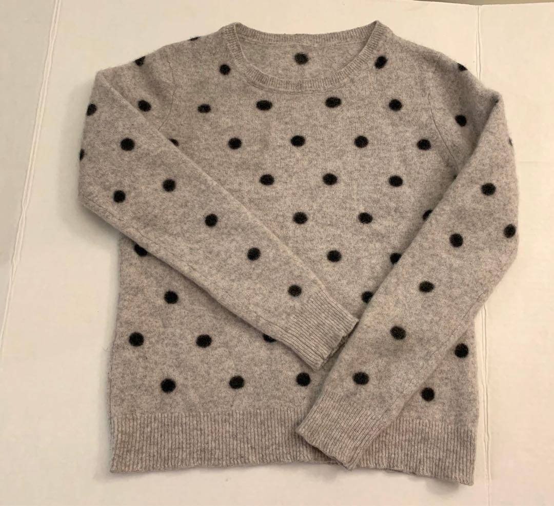 100% cashmere polka dot sweater