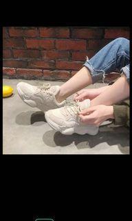 韓國杏色老爹鞋