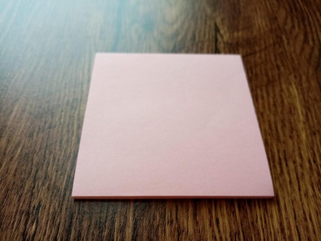 [不需消費]粉色便條紙