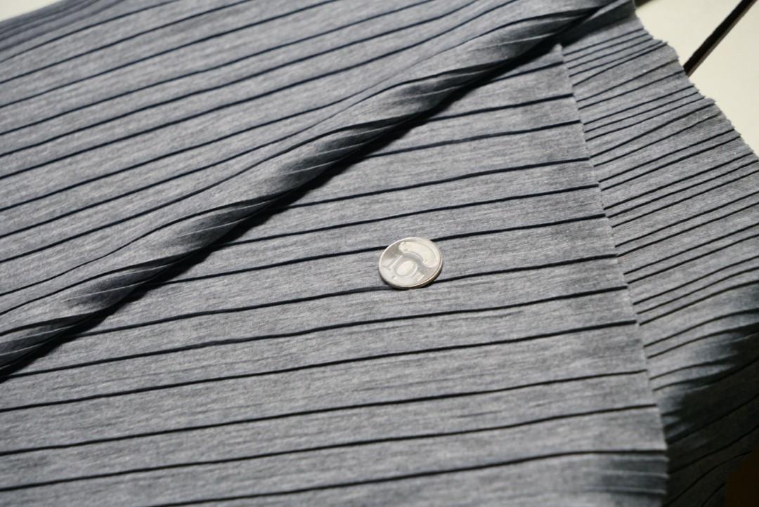 麻灰 正反折單面布 針織