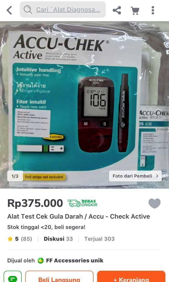 Alat test gula darah accucheck active