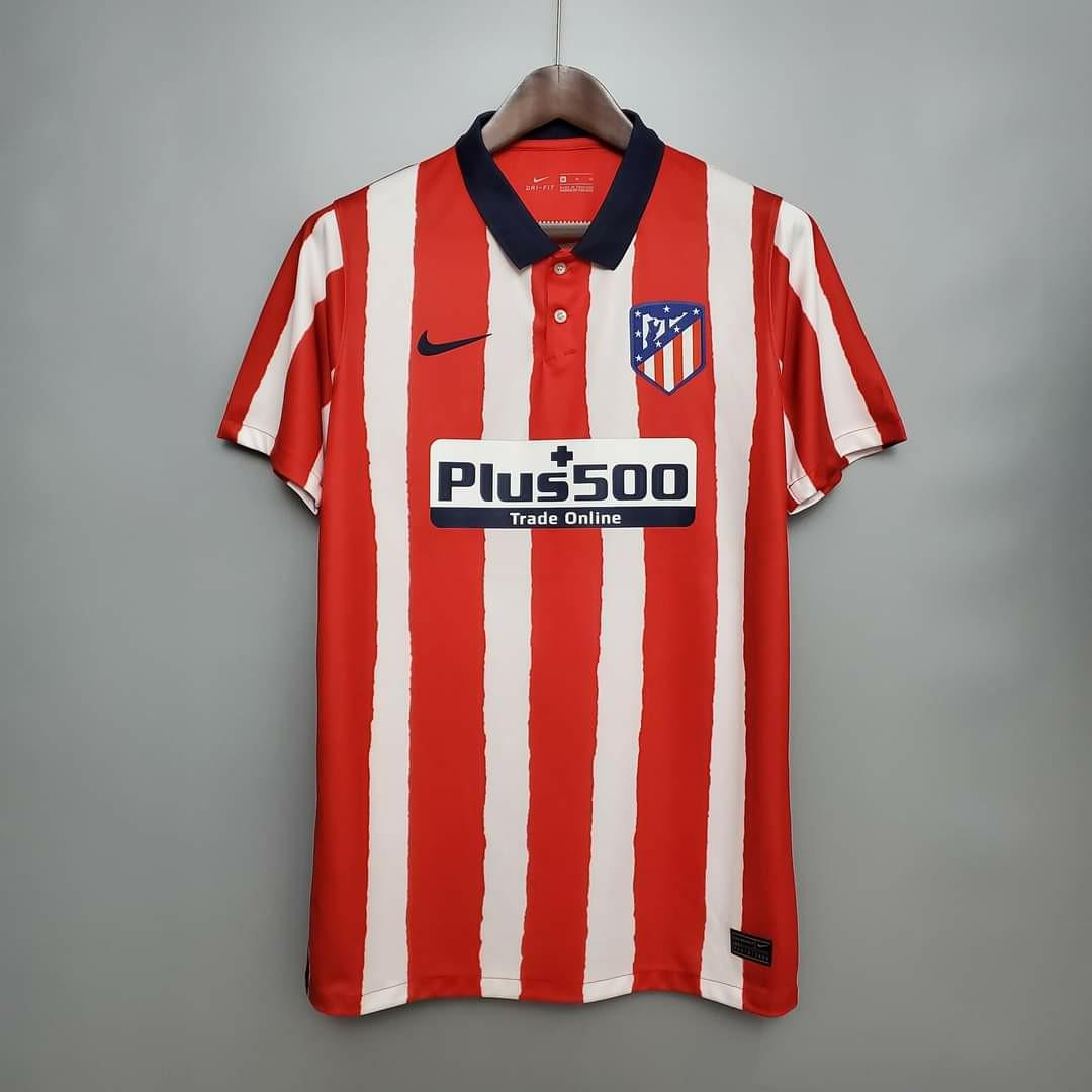 Atletico Madrid 20 21 Home Kit Sports Athletic Sports Clothing On Carousell