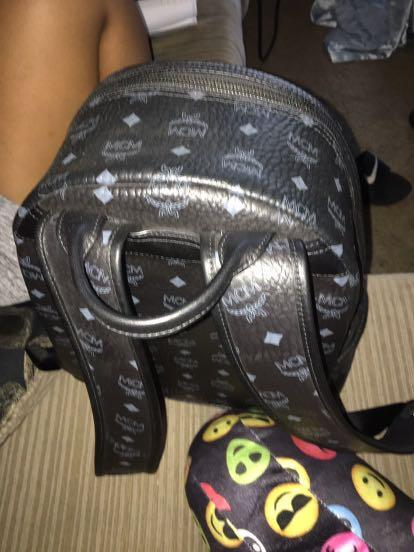 Authentic Black Mcm Backpack