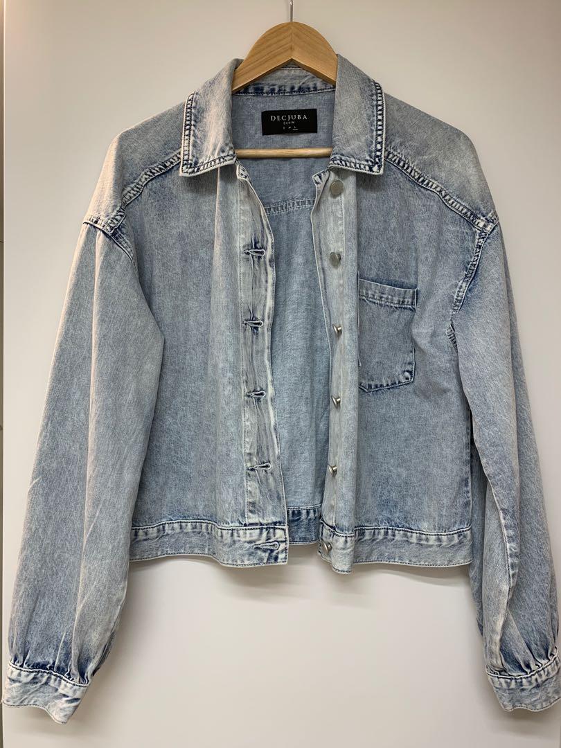 bleach blue denim jacket