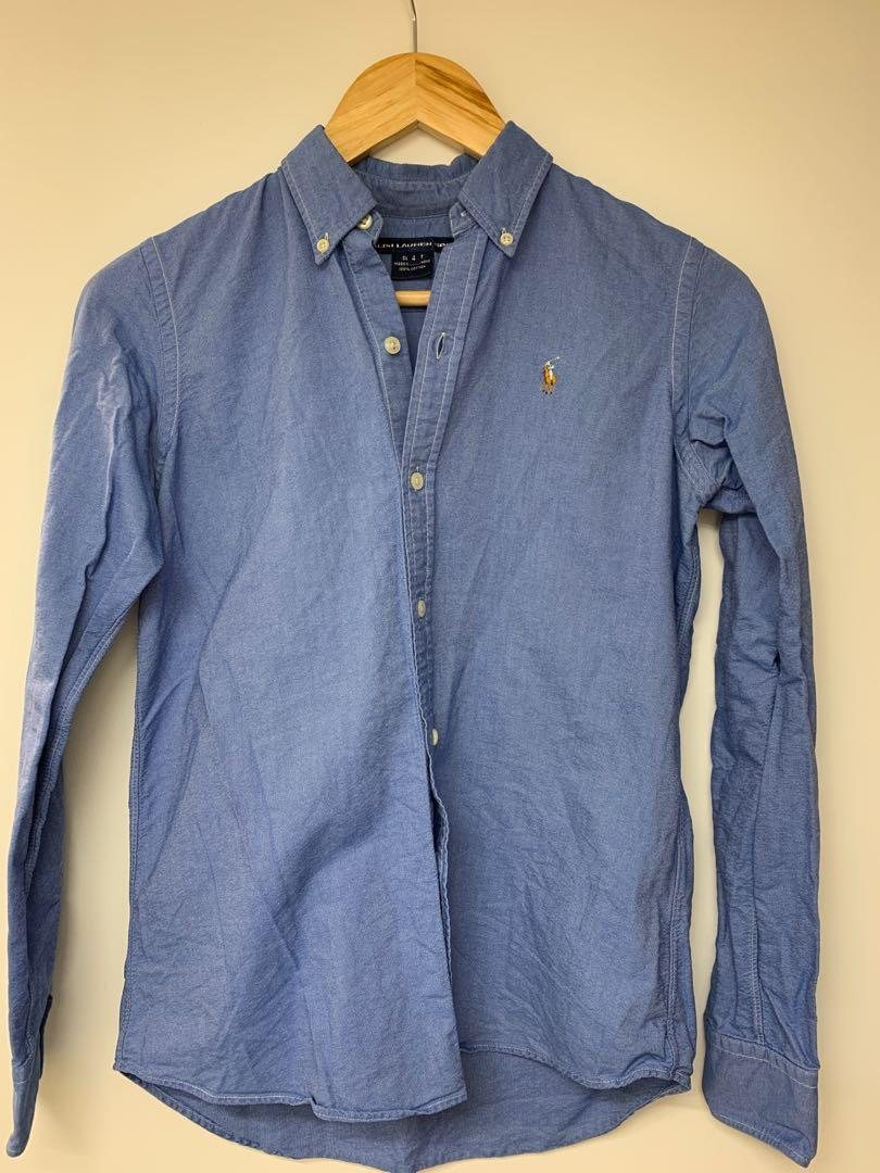 blue Ralph Lauren shirt