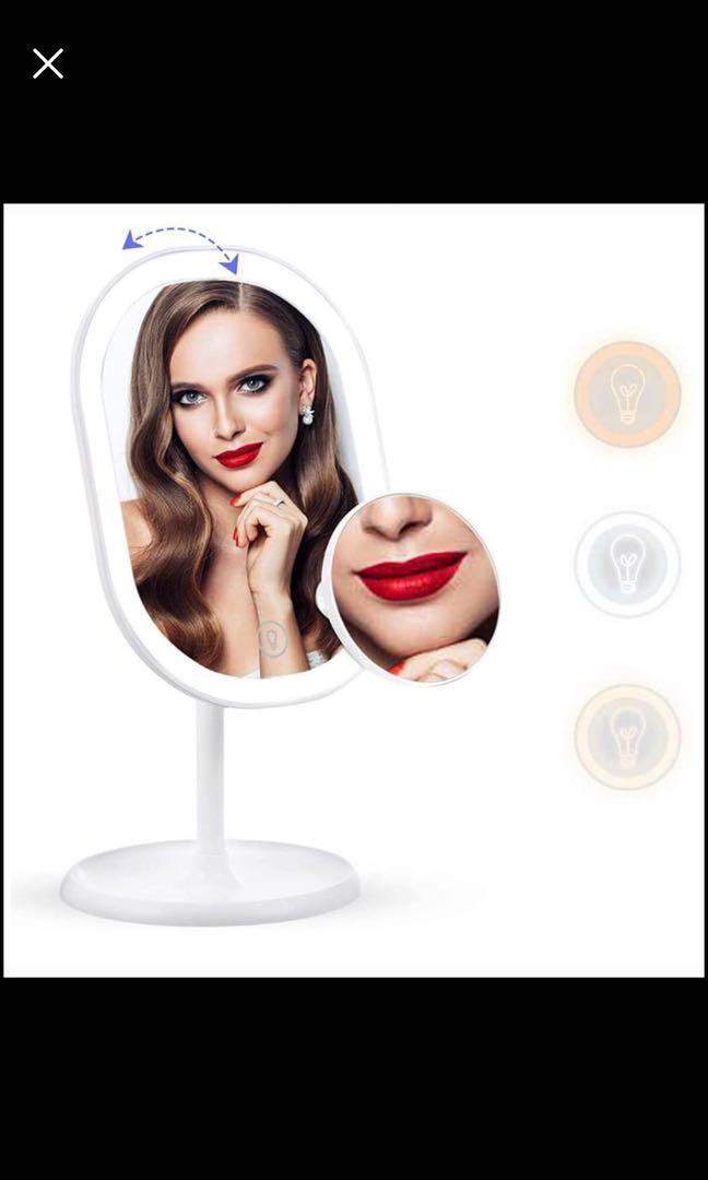 Brand new LED Lighted Makeup Mirror, Lighted Vanity Mirror with light 360° Rotation Illuminated Tabl