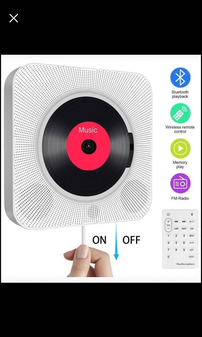 Brand new Portable CD Player with Bluetooth,Wall Mountable CD Music Player