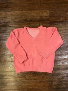 Cardigan Pink anak bahan rajut