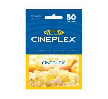 Cineplex $50 Gift-card (Virtual)