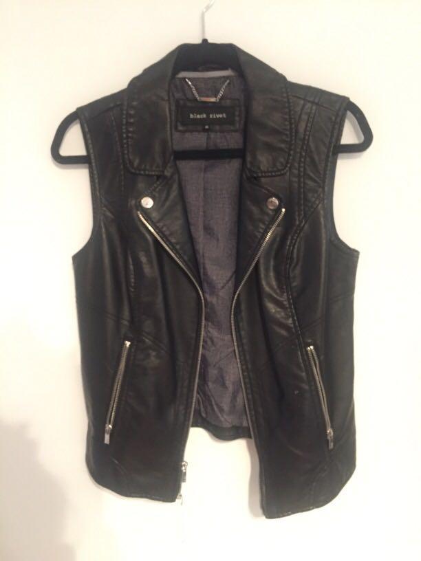Faux Leather Vest (S/M)