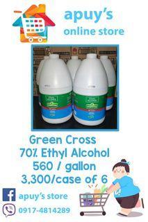 Green Cross 70% Ethyl Alcohol Gallon