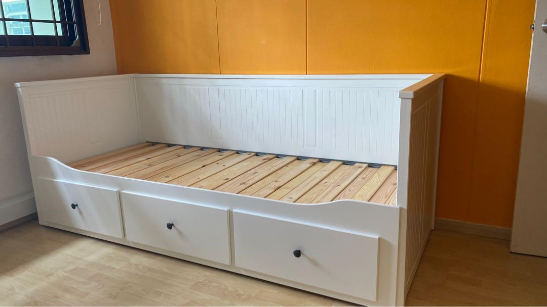 Ikea Hemnes Day Bed Frame With 3 Drawers Furniture Beds Mattresses On Carousell