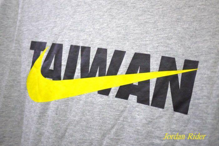 Jordan Rider 喬丹騎士 NIKE TAIWAN Tee 台灣 臺灣 黑色 LOGO 黃色 勾勾 灰色 男生 短袖T恤