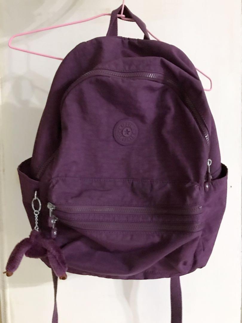 Kipling全新紫色後背包