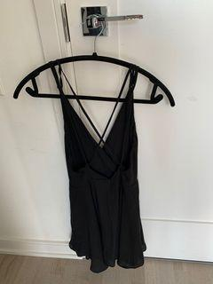 Little Black Dress with an Open Back - Small