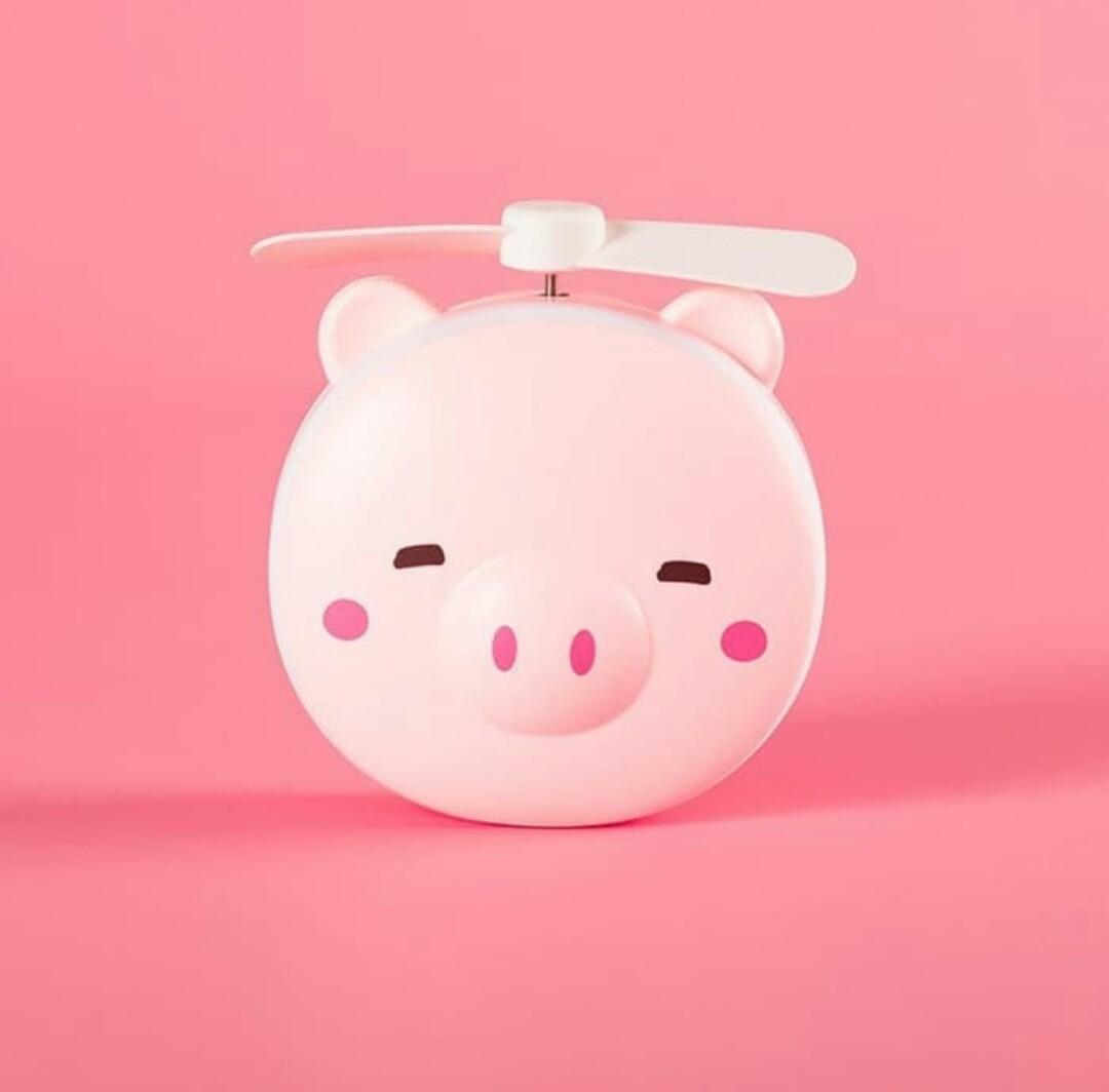 Mini Fan Led cermin 3in1 usb portable lucu