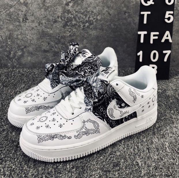 Nike Air Force 1 Custom bandana, Women