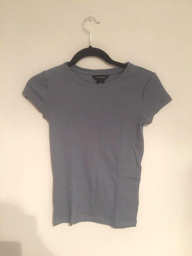 Ribbed T-Shirt (XS-Blue/Teal)