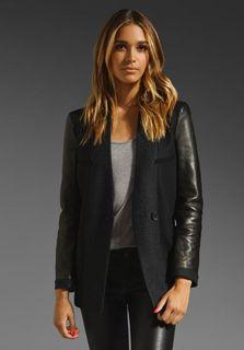 See by Chloe leather wool jacket