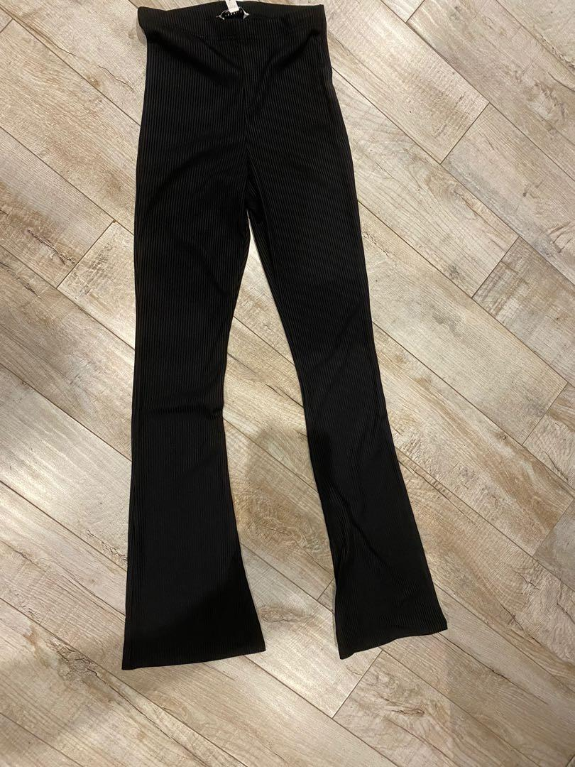 Top shop bell bottom black pants