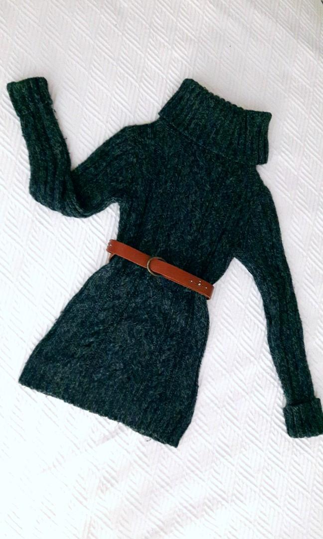 Warm Teal blue Sweater Wide Turtle neck - XS (fits up to a s/m)- Old Navy