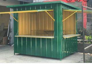 Warung container bahan mengunakan besi hollow 4x4 dan spandek