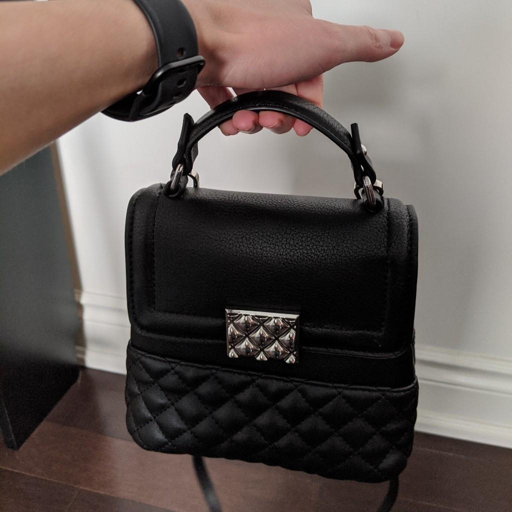 Zara faux leather mini bag!