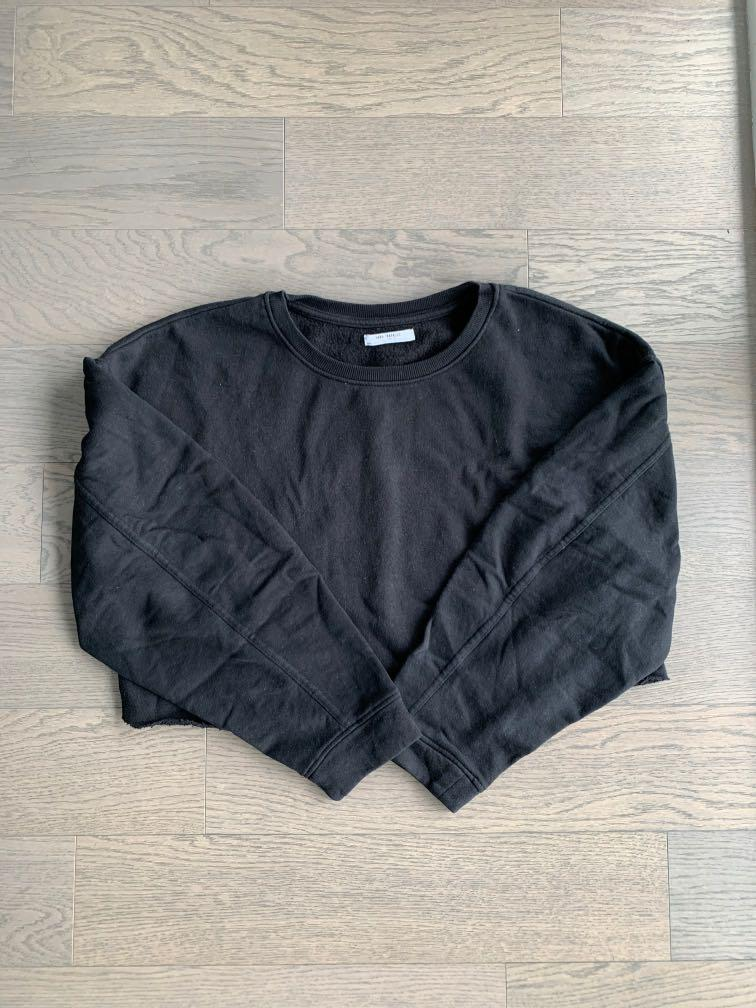 Zara oversized cropped sweater