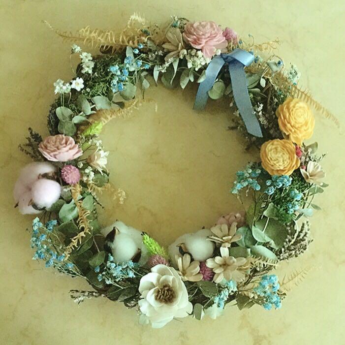 乾燥花花環