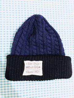 藍黑色毛帽 #換季