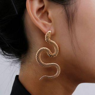 歐美個性蛇形耳環